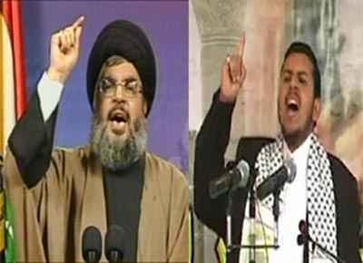 عبد-الملك-الحوثي-وحسن-نصر-الله