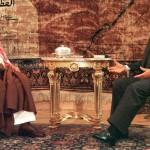 Egyptian President Hosni Mubarak meets w