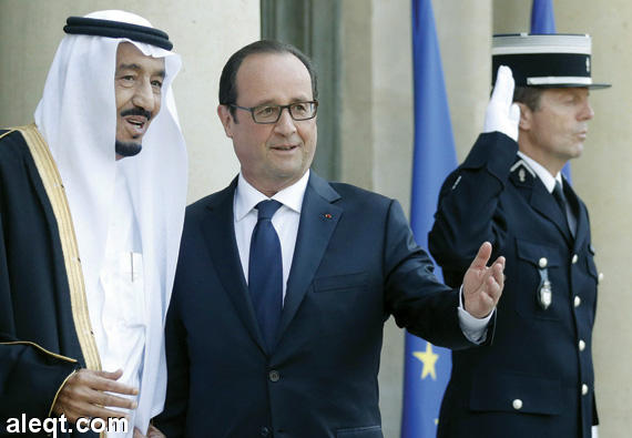 لرئيس الفرنسي يرحب بالأمير سلمان الذي بدأ زيارة رسمية إلى باريس