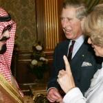 The Duchess of Cornwall Camilla (R) talk