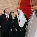 Saudi King Abdullah (R) and President of