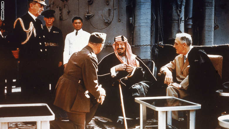 FDR Meets With King Ibn Saud