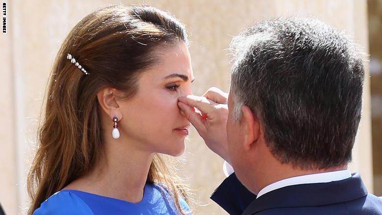العاهل الأردنى والملكة رانيا