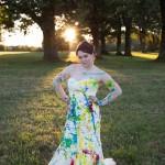 الفستان الملون