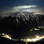 جبال فى المساء