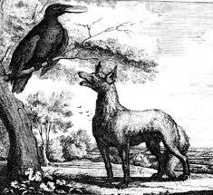 الثعلب وطائرالكركى