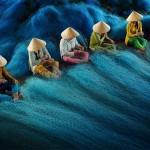 الحياكة شباك الصيد هي واحدة من المهن الأكثر العادية في باك ليو