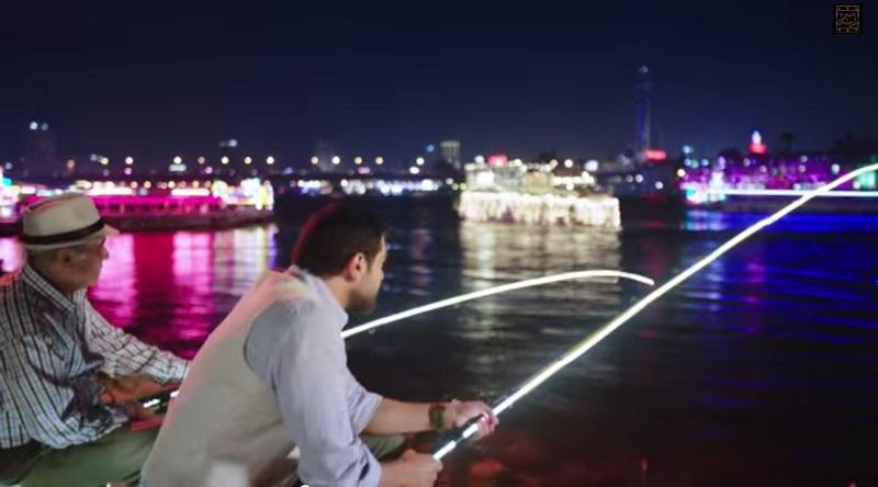 الصيد فى النيل بالليل