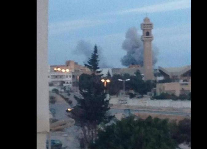 القصف المصري لداعش