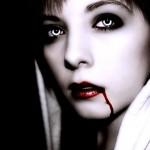 Vampire Katlin with Red Lips