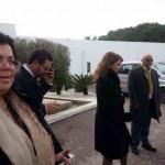 السيدة ماجدة في الطريق الى القصر الرئاسي التونسي