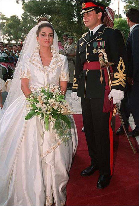 العاهل الأردنى الملك عبد الله الثانى والملكة رانيا