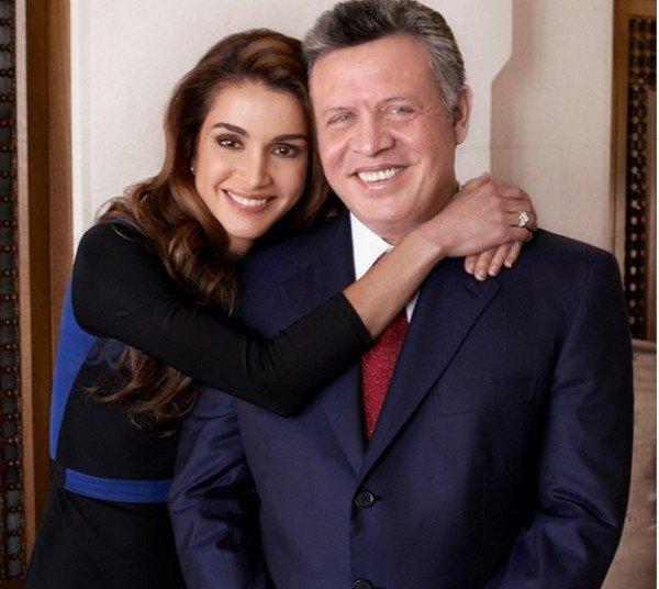 العاهل الأردنى الملك عبد الله الثانى والملكة رانيا2