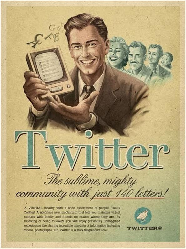 تويتر فى الاربعينات