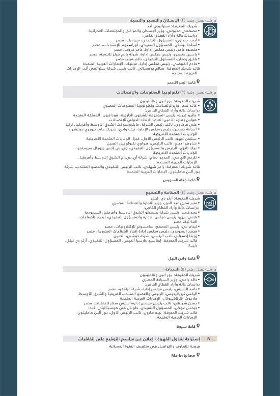 جدول مؤتمر شرم الشيخ الاقتصادى