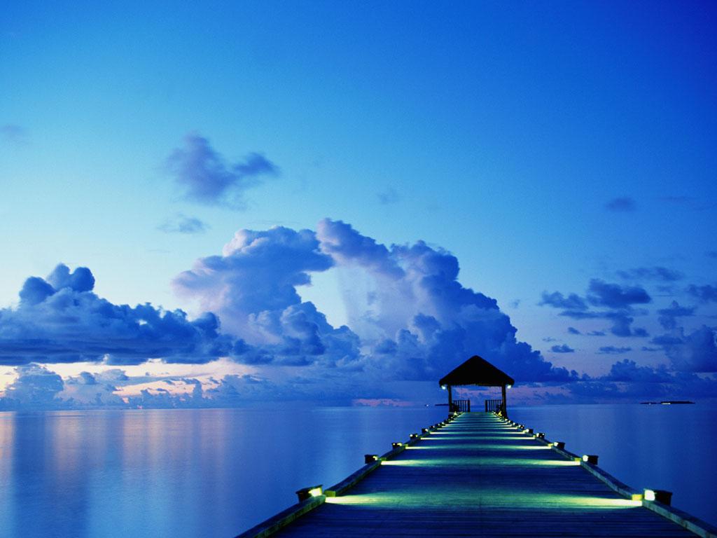 صور زرقاء خرافيه للطبيعه