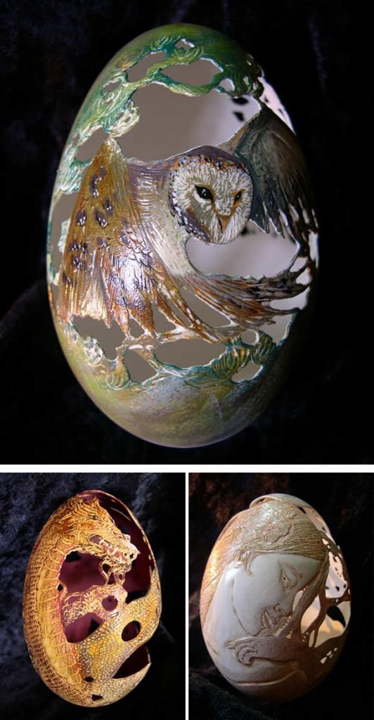 البيض المحفور