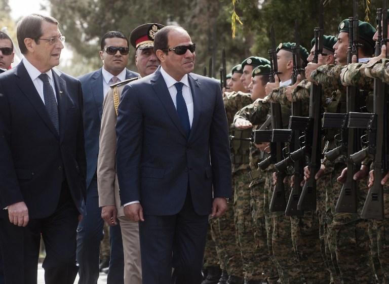السيسي يستعرض حرش الشرف فى قبرص