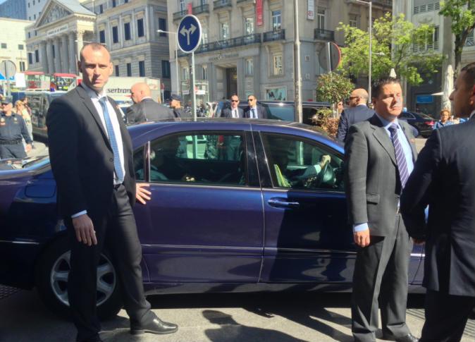 وصول الرئيس لقصر الحكم باسبانيا