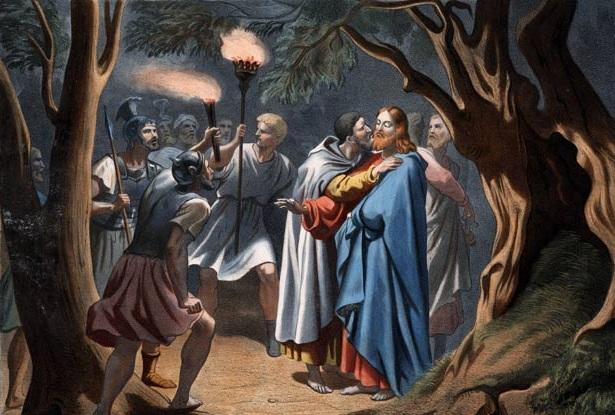 يهوذا يقبل المسيح