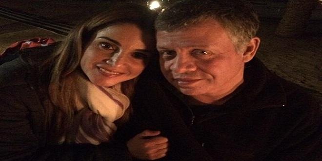 صورة الملكة رانيا وزوجها فى مؤتمر دافوس تقلب الفيسبوك