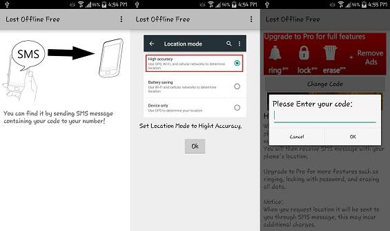تطبيق لإيجاد هواتف أندرويد المفقودة دون إنترنت