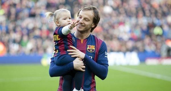 راكيتيتش مع ابنته