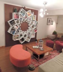 مكتبة-على-شكل-وردة