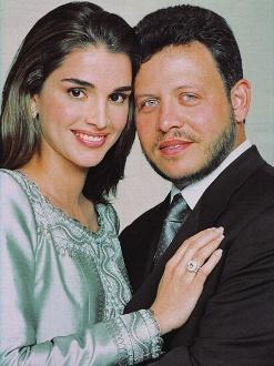 الملكة رانيا والملك عبد الله