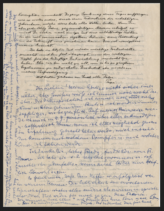 This undated image provided by Profiles in History shows a letter written by legendary physicist Albert Einstein about his theory on relativity. Einstein was a father who worried his son wasn't taking his geometry studies seriously enough, and that he was indebted to a favorite uncle for giving him a toy steam engine when he was a boy, launching a lifelong interest in science. He also believed the infidelity of a friend's spouse was no big deal. These and other reflections, including personal opinions on God and politics, are contained in 27 letters being offered by a private collector at auction this week.(Profiles In History via AP)