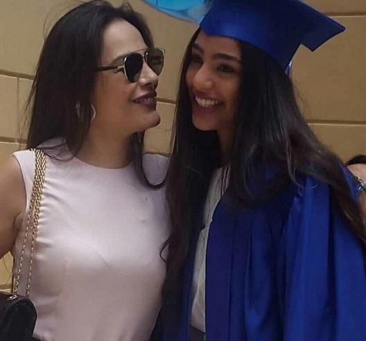 شريهان في حفل تخريج ابنتها لولوة
