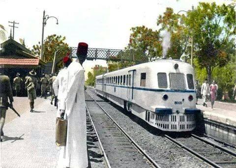 محطة مترو المعادى سنة 1954