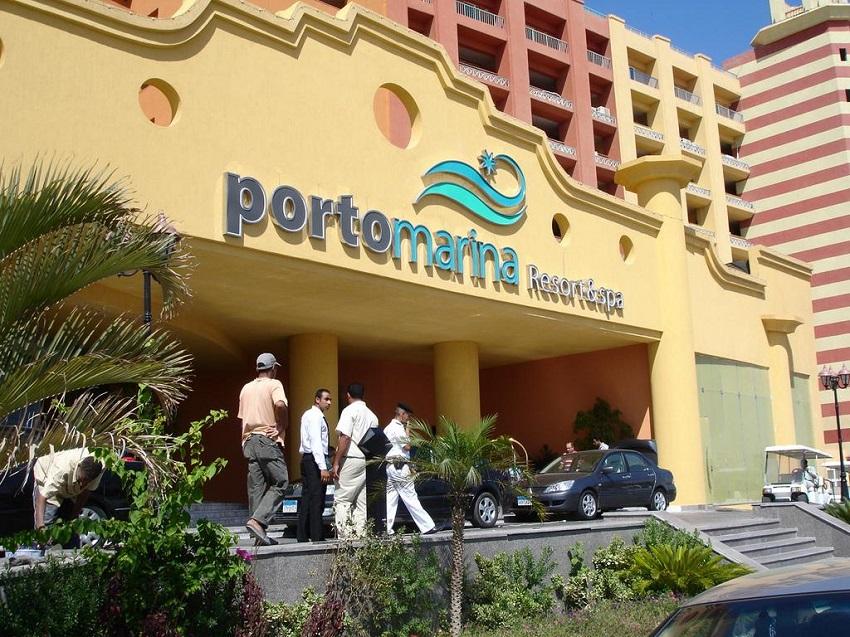 مدخل فندق بورتو مارينا