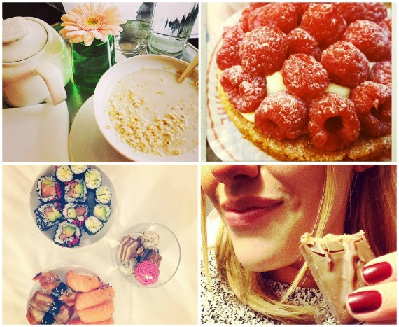 مريم أوزرلي وصور الأكل