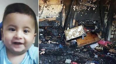 الطفل الفلسطينى المحترق على