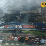 حريق بشقة أعلى مطعم من المطاعم الكبرى فى المهندسين