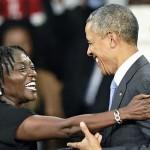 أوباما واخته فى كينيا