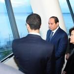 الرئيس السيسى يزور محطة تحلية فى سنغافورة