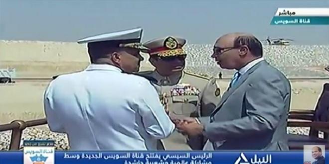 السيسى بالزى العسكرى بافتتاح قناة السويس الجديدة