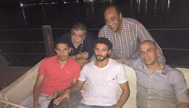 جلسة صلح بين وائل جمعة وحسام غالى