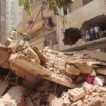 سقوط منزل بفيصل ش محمد حسن