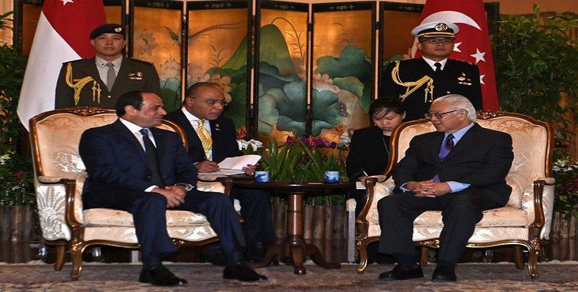 مباحثات السيسى مع رئيس  سنغافورة