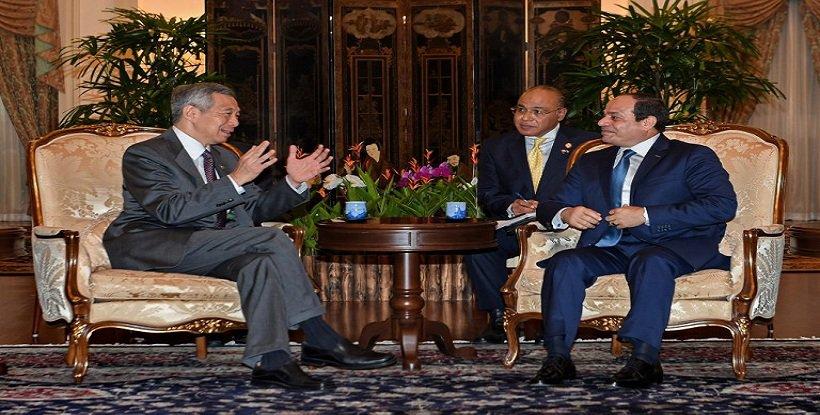 مباحثات السيسى مع رئيس وزراء سنغافورة