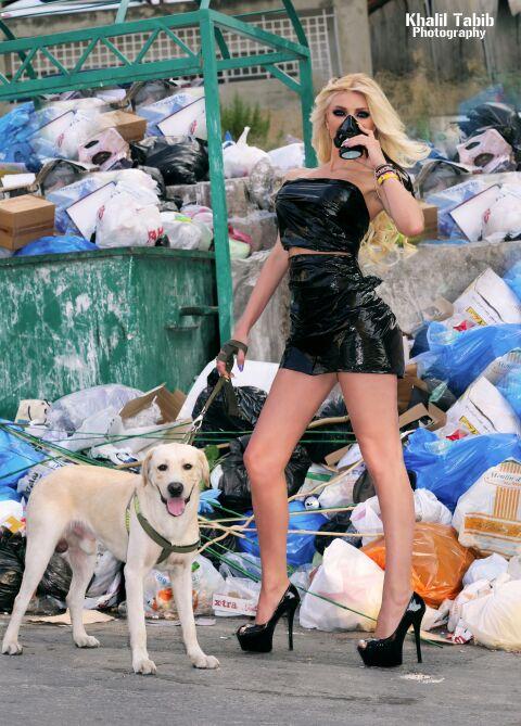 مريام ملينيك بفستان من اكياس الزبالة