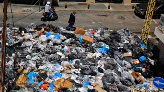 القمامة فى لبنان