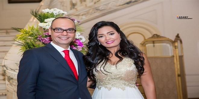 انجى عبد الله وزوجها