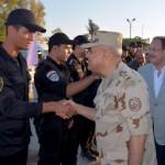 وزيرا الدفاع والداخلية يتفقدان قوات الجيش والشرطة بشمال سيناء
