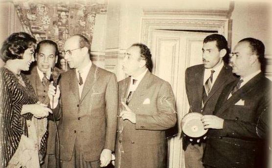 إسماعيل ياسين مع عبد الوهاب وتحية كاريوكا