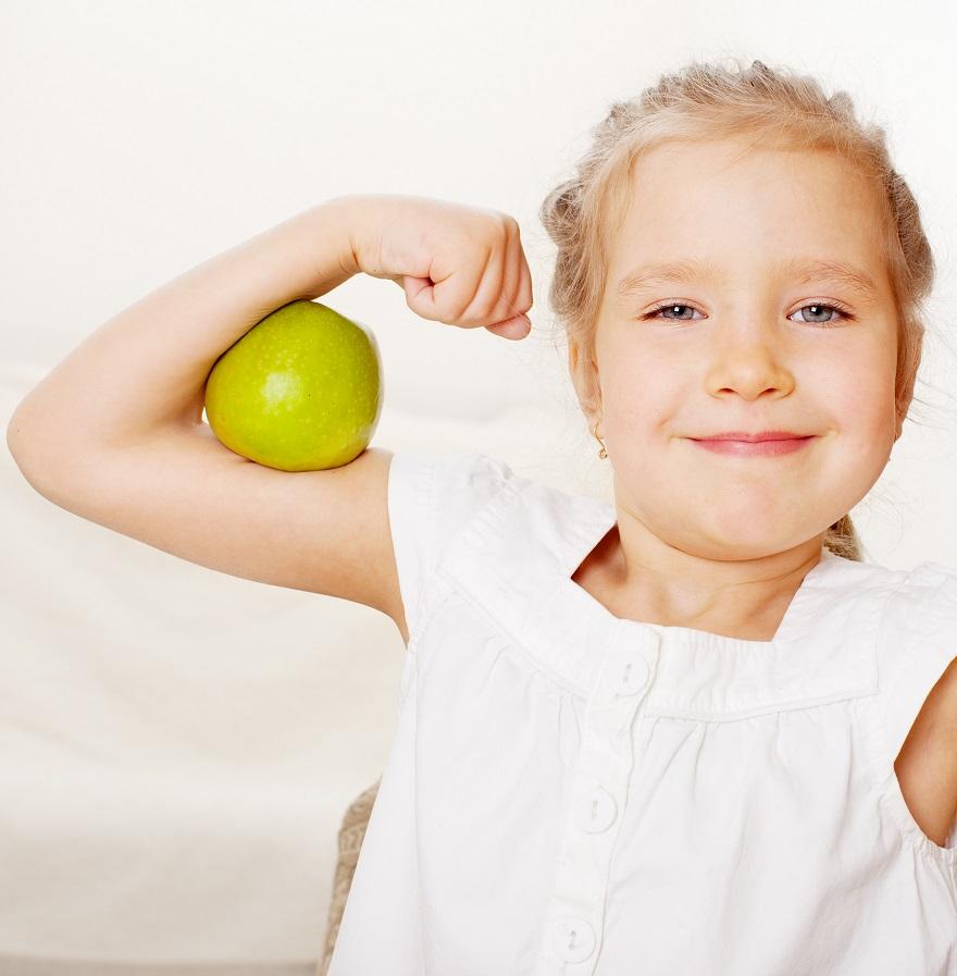 التفاح والأطفال