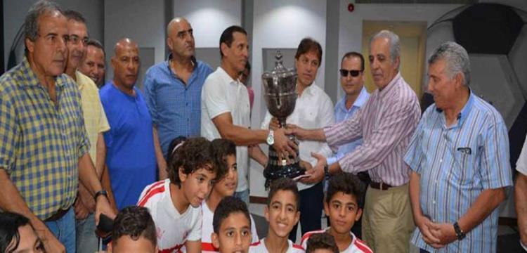 الزمالك يستلم كأس مصر